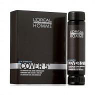 №4 - Среднокафяво - L'oreal Cover 5' Професионална боя за коса за мъже - 50 ml