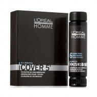 №6 - Тъмнорусо - L'oreal Cover 5' Професионална боя за коса за мъже - 50 ml