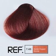 7.43 REF Colours - Златно медно русо - 100 ml