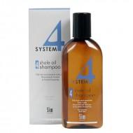 Шампоан № 4 за мазна коса и чувствителен сърбящ скалп - 215 ml